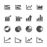 Infographic e l'icona del grafico hanno messo 5, eps10 Fotografia Stock Libera da Diritti