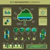 infographic eco的要素 库存图片