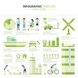Infographic Eco Royalty-vrije Stock Foto's