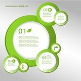 Infographic Eco designbeståndsdelar. Arkivbilder