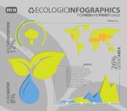 infographic ecologic element stock illustrationer