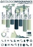 infographic ecologic element royaltyfri illustrationer