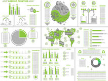 Infographic ecological green Royalty Free Stock Image