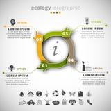 Infographic ecologie stock illustratie