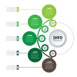 Infographic or ecology Business presentation with 5 options. Web. Template of a chart, mindmap or diagram. Vector dynamic infographics or mind map of technology Stock Photography