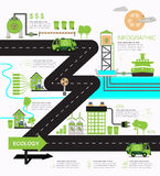 Infographic ecology Stock Photography