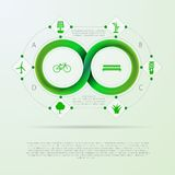 Infographic for ecology with Mobius stripe Stock Photos