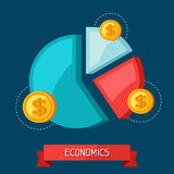 Infographic economic and finance concept flat Stock Photos