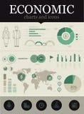 Infographic economico Fotografie Stock