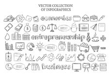 Infographic Economics Elements Set Stock Photos