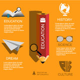 Infographic Education, , flat design, elements Royalty Free Stock Image