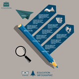 Infographic Education, , flat design, elements Royalty Free Stock Images
