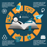 Infographic Education, , flat design, elements Stock Photography