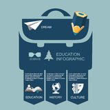 Infographic Education, , flat design, elements Royalty Free Stock Photography