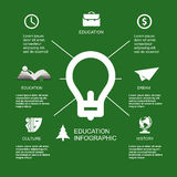 Infographic Education, , flat design, elements Royalty Free Stock Photos