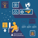 Infographic Education, , flat design, elements Stock Photos