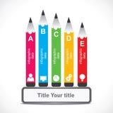 Infographics educativo creativo Immagine Stock Libera da Diritti