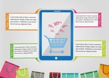 Infographic-Einkaufen Lizenzfreie Stockbilder