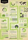 infographic ekologi Royaltyfria Foton