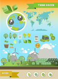 infographic ekologi stock illustrationer