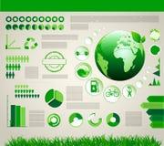 Infographic ekologidesign Royaltyfria Bilder