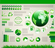 Infographic ekologii projekt Obrazy Royalty Free