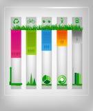 Infographic ekologii projekt Fotografia Royalty Free