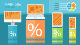 Infographic of electronic device Stock Images