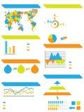 Infographic elementów demograficzna mapa i grafiki zabawka Obrazy Stock