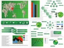 Infographic elementów mapa i grafika komputer Obraz Stock
