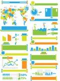 Infographic elementów mapa i grafiki zabawka Fotografia Stock