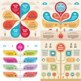Infographic elementów szablonu pojęcia biznesowi sztandary dla prezentaci, broszurki, strony internetowej i innego projekta proje ilustracja wektor