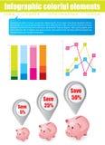 infographic element stock illustrationer