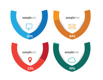 infographic element Royaltyfri Bild
