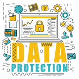 Infographic element for Business Data Protection. Stock Images