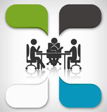 Infographic Element Business Meeting on Gray Stock Photography