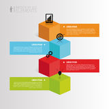 Infographic element. 3d cubes. vector illustration Stock Photography