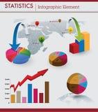 Infographic Element der Statistiken Stockbilder