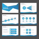 Infographic Element des abstrakten blauen Polygons und flaches Design der Ikonendarstellungsschablonen stellten für Broschürenfli lizenzfreie abbildung