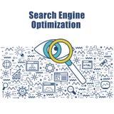 Infographic element dla SEO pojęcia ilustracji