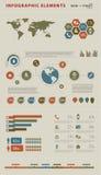 Infographic element för affär vektor illustrationer