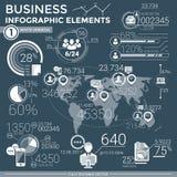 Infographic element för affär Arkivbilder