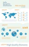 Infographic element för highqualityaffär stock illustrationer