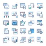 Infographic Elements Flat Icons Pack stock illustration