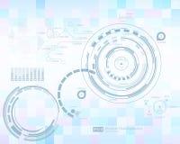 infographic element Futuristisk användargränssnitt HUD Abstrakt bakgrund med förbindande prickar och linjer anslutning stock illustrationer