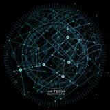 infographic element Futuristisk användargränssnitt Pricker fodrar låg poly mörk bakgrund för abstrakt polygonal utrymme med att f Arkivbilder