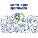 Infographic element for SEO concept. Royalty Free Stock Images