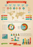 Infographic element. Statistic of population. Stock Photo