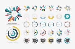 infographic element Symbol för uppsättning för pajdiagram royaltyfri illustrationer