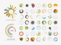 infographic element Symbol för uppsättning för pajdiagram stock illustrationer
